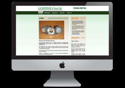A.G. Boniface & Sons | New Web