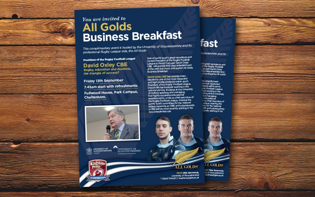 All Golds Business Breakfast Flyer