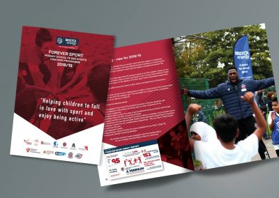 Brochure Design for Bristol Sport